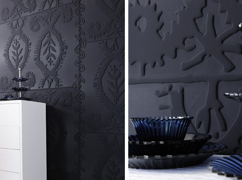 wallpaper with 3d effect thermoformed elitis 3