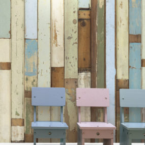 Rustic Wallpaper – Scrapwood by Piet Hein Eek
