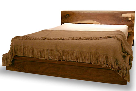 walnut bed liffey shimna 2 Walnut Bed with Maple Pop out Boxes   Liffey bed with drawers underneath by Shimna