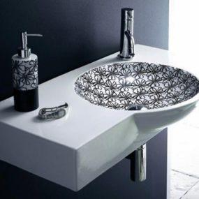 Stylish Wash Basins in Black and White by Bathco