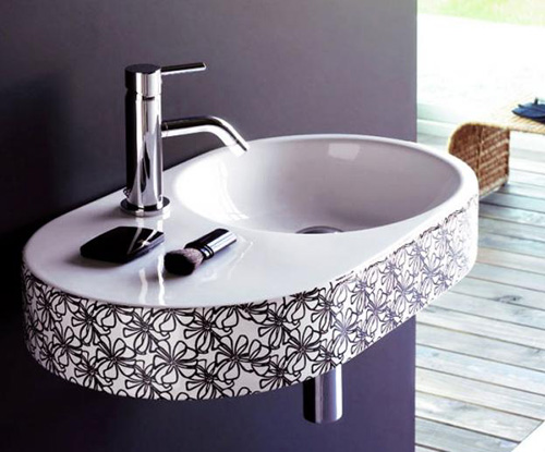 Stylish Wash Basins in Black and White by Bathco