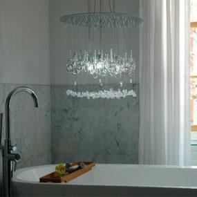 Lighting Centerpiece Chandelier by Water Pressure: stunning centerpiece