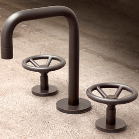 Brooklyn Bath Faucet by Watermark – industrial style widespread faucet