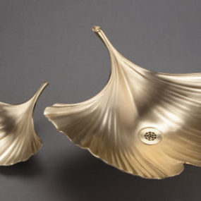 Ginkgo Fallen Leaves Vessel by Julie Wawirka