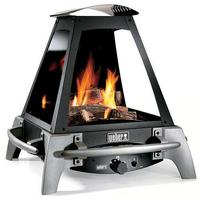 Weber Flame Outdoor Gas Fireplace – campfire with the push of a button