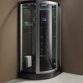 New Steam Shower Cabins from Wellgems – dark color from the Netherlands!