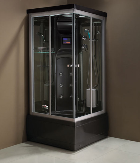 Wellgems steam shower cabin - square