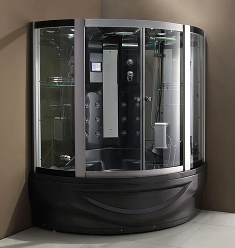 Exceptionnel Wellgems Steam Shower Cabin 5 New Steam Shower Cabins From Wellgems Dark  Color From The Netherlands