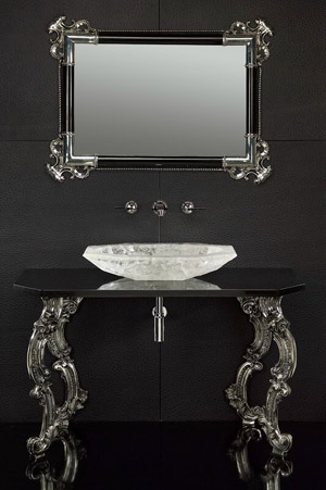 westone bathrooms baldi rock sink vanity Baldi Rock Crystal Vessel Basin   from West One Bathrooms