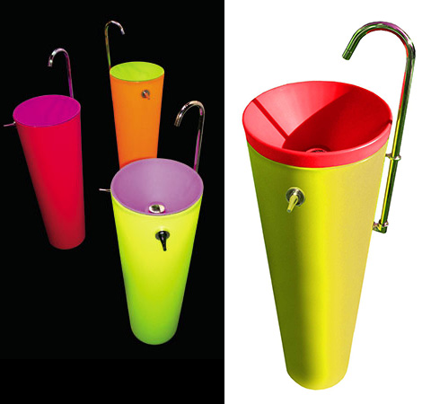 Recyclable Washbasin Funky Bathroom Decor Accessories By Wet