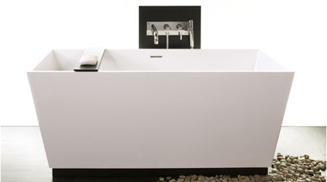 Rectangular Tub Design From Wet Style U2013 The Cube Freestanding Tub