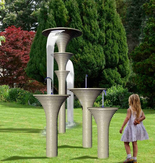 Unusual Stone Outdoor Shower – Vulcano by Wet