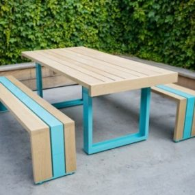 White Oak Outdoor Furniture by Scout Regalia