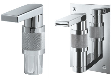whitehaus gesto single hole lavatory faucet New Gesto bathroom and kitchen faucet series from Whitehaus