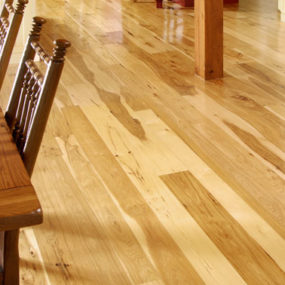 Wide Plank Hickory Flooring – Nature's toughest wood, by Carlisle