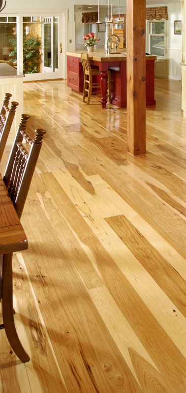 wide plank hickory flooring carlisle 1 Wide Plank Hickory Flooring   Nature's toughest wood, by Carlisle