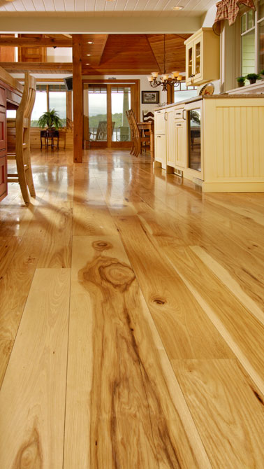 wide plank hickory flooring carlisle 2 Wide Plank Hickory Flooring   Nature's toughest wood, by Carlisle