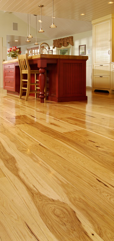 Carlisle Wide Plank Floors >> Wide Plank Hickory Flooring - Nature's toughest wood, by ...