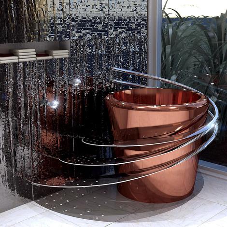 wild terrain designs copper tub e 860 thumb Electronic Bathtub by Wild Terrain Designs