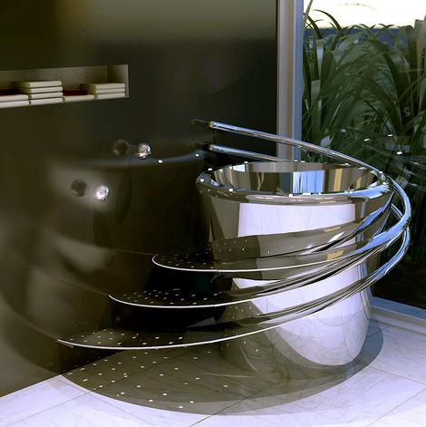 wild terrain designs stainless steel tub e 860 thumb Electronic Bathtub by Wild Terrain Designs