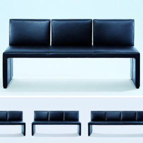 Leather Bench from Wittmann – the Corso designer bench – the beauty is in simplicity