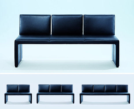 wittmann corso bench Leather Bench from Wittmann   the Corso designer bench   the beauty is in simplicity