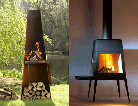 wittus fireplace stove cubic 2 Wood Fireplace Stove by Wittus   new Cubic
