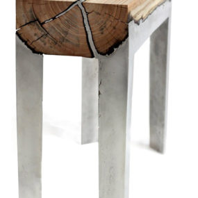 Aluminum and Wood Furniture by Hilla Shamia