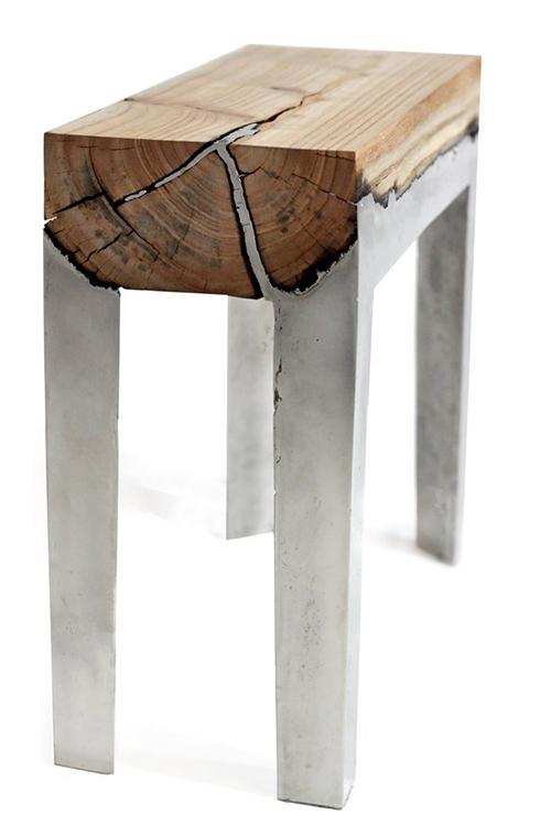 wood casting aluminum and wood furniture by hilla shamia 2