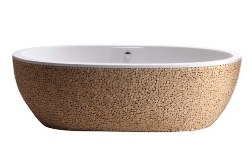 wood finish bathtub bleu nature baignoire stone pixel 2 Wood Finish Bathtub by Bleu Nature: Baignoire Stone Pixel Tub
