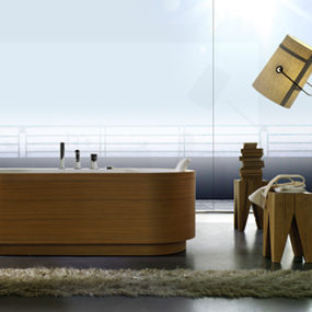 Wood Paneling Tub – freestanding Yuma Art Tub 180 by Blu Bleu