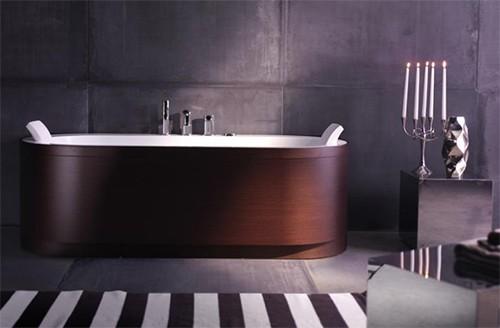 wood paneling tub - freestanding yuma art tub 180blu bleu