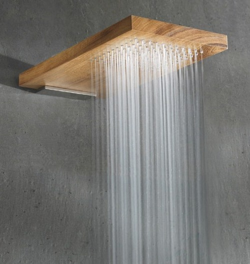 wood shower head rare terra marique 1