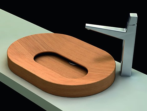 wood vessel sinks palazzani Wood Vessel Sinks   above counter vessels from Palazzani