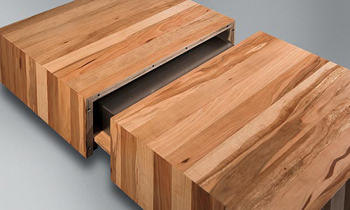 wooden coffee tables sliding top schulte design 3