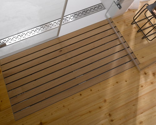 Wooden Shower Grate Drains By Aco
