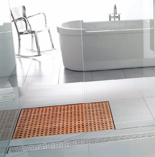 wooden shower grate drains aco 2
