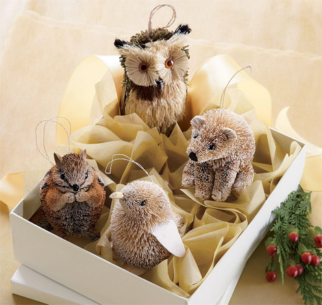 woodland creature ornaments