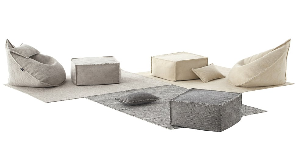 Wool Bean Bag Spaces From Gan Sail Collection