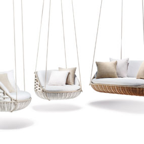 World's First Floating Outdoor Living Room by Dedon: SwingMe and SwingUs