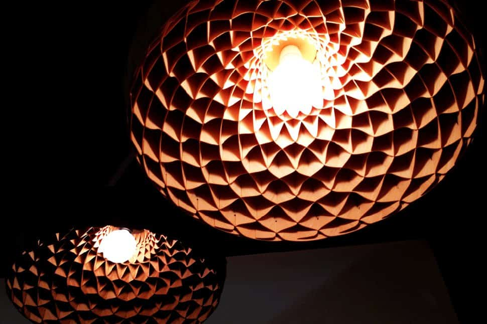 View In Gallery Woven Bamboo Veneer Pendant Lighting By Edward Linacre