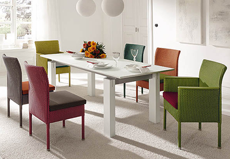 woven dining room furniture accente Woven Dining Room Furniture by Accente   new woven furniture trend for indoors