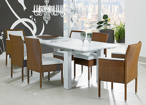 woven dining room furniture1 accente Woven Dining Room Furniture by Accente   new woven furniture trend for indoors