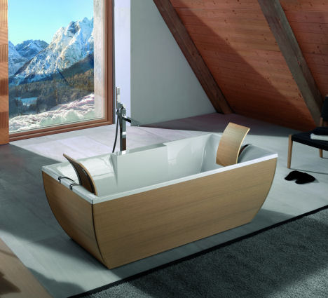 ws bath collections kali art oak bathtub WS Bath Collections Kali Art Bathtub   the Luxury Bathtubs