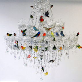 XL Bird Chandelier by Sebastian Errazuriz