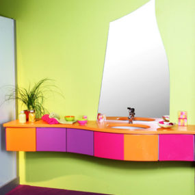 Eclectic bathroom by Yves Pertosa – The Ambiance Evolution 2 Galbe bathroom vanity