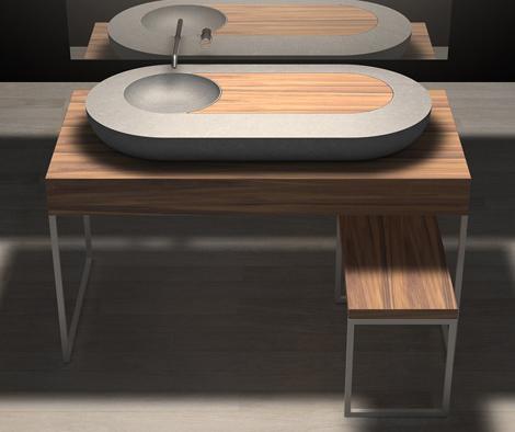zaninelli bathroom collection ncc 1 Wood and Stone Italian Bathroom by Zaninelli