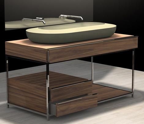 zaninelli bathroom collection ncc 2 Wood and Stone Italian Bathroom by Zaninelli