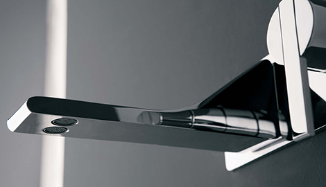 Bathroom faucet from zazzeri new rem has two water streams for Mico designs seashore kitchen faucet