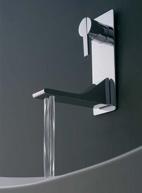 zazzeri faucet rem 4 Bathroom Faucet from Zazzeri   new Rem has two water streams